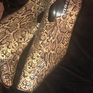 Bebe Booties Snakeskin boot 🐍